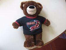 "14"" plush Teddy Bear doll wearing an Iron Man shirt, good condition"