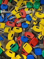 Large Lot of  Misc Key BLANKS 3 pounds PLASTIC HEAD CAR KEYS vintage
