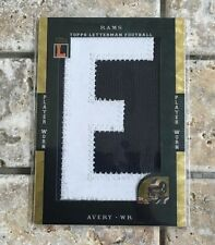 DONNIE AVERY 2008 TOPPS LETTERMEN PLAYER-WORN PATCH #ed 1/1 SUPERFRACTOR