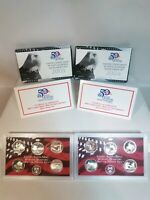 Lot of 3 United States US Mint 50 State Quarters 90%Silver Proof Sets 2004-2005