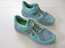 Women's NIKE 'Free Run 3' Sz 8.5 US Runners Green Grey VGCon | 3+ Extra 10% Off
