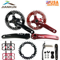 MTB Bike Crankset Aluminum Bicycle Crank 104BCD Chainring Bottom Bracket 170mm