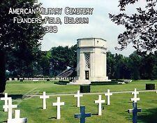 Belgium - Flanders Field American Cemetery - Flexible Fridge Magnet