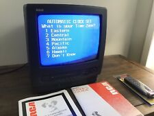 """RCA 13"""" TV VCR Combo VHS Television Vintage Gaming SeeDESCR."""
