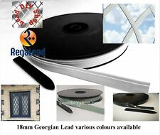 18mm Self adhesive lead strip Window Lead Glass Crafts Georgian various colours