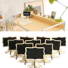10Pcs Mini Wooden Chalkboard Blackboard Table Number Wedding Party Decor Fashion