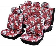Car Seat Covers Protectors Universal washable ready Dog red hawaiian front rear