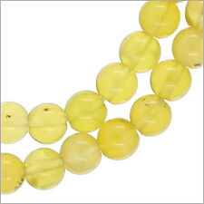 "15.5"" Natural Yellow Opal Round Beads ap. 6mm  Grade A #76125"