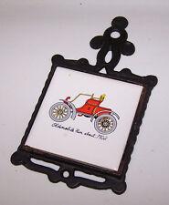 Vintage Trivet 1903 OLDSMOBILE Run About Automobile Auto Cast Iron Ceramic Tile
