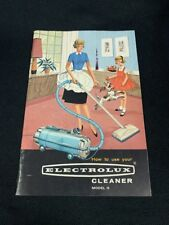 ELECTROLUX Vacuum Cleaner Owner's Manual Model G 1964 Mint Condition Y4