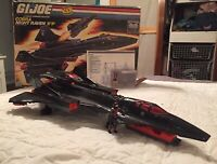 G. I. Joe ARAH Cobra Night Raven 1986 100% Complete w/ Box & StratoViper VINTAGE