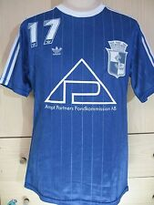 VINTAGE ADIDAS MATCH WORN 1980s MADE IN SINGAPORE SOCCER JERSEY FOOTBALL SHIRT L