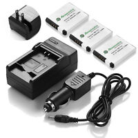 3x Battery + Charger for Canon NB-11L NB11LH Elph 170 340 350 A2300 A3400 A4000