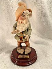 SNEEZY 1994 Disney Signed GIUSEPPE ARMANI Italy Figurine Statue 0914C Mint Rare