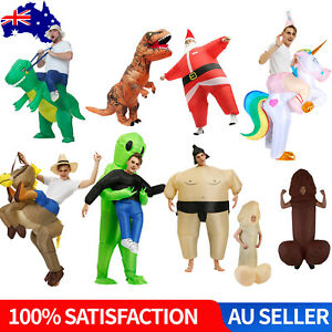 Inflatable Costume Suit Adult Halloween Funny Fancy Dress Horse Cowboy Cosplay
