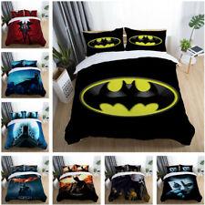 Batman Quilt Doona Duvet Cover Set Bed Single Double Queen King Size Pillowcase