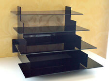 4 Tier Waren Präsenter Verkaufsregal Tisch Aufsteller Ständer Acryl Glas Schwarz
