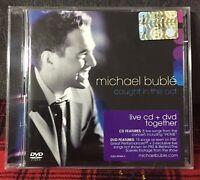 Michael Bubble Caught in The Act Live CD + DVD 2005 Come da Foto Bublè N