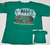 Notre Dame Irish Football 1994 Wake Up The Echoes T-Shirt Men XL Rockne Stadium