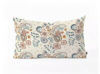"Deny Designs Pimlada Phuapradit Paisley Floral Oblong Throw Pillow 23"" x 14"""