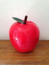 BAC à Glaçons  Pomme avec  feuille rouge    Seau à glace an 70's   2