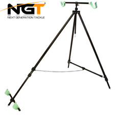 NGT Beach Pro Tripod System For 2 Rods And Reels Extendable In Case Sea Fishing