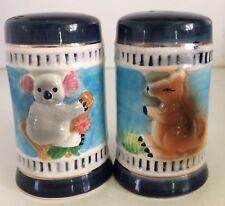 Koala kangaroo Australiana salt and pepper shakers