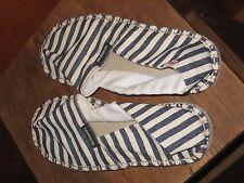 Havaianas Womans 7W/6M(7.5) Original Navy/White Stripe Alpargatas Canvas Shoes