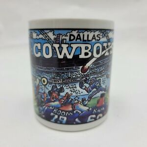 Vintage Dallas Cowboys Coffee Mug Team NFL Custom Edge Inc Football Cartoon