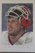 Shane Conlan 58 Buffalo Bills Merv Corning NFL All Pro Super Bowl Set AFC Litho