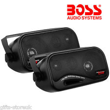 BOSS AUDIO AVA6200 3-WAY 200W TOTAL BOX ENCLOSED CAR / CARAVAN SHELF SPEAKERS