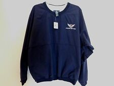 NWT Mens Black CHEVY CORVETTE car Sweater Windbreaker Shirt Large Golf Auction