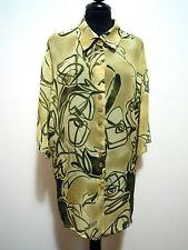 PIERRE CARDIN PARIS Camicia Donna Rayon Oversize Woman Shirt Sz.XXL - 50
