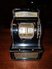 Vintage 1931 Uncle Sam's Metal Dime Cash Register Bank Durable Toy & Novelty