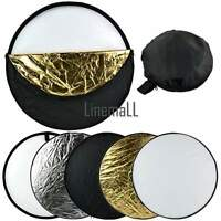 """60cm 24"""" 5in1 Photography Studio Multi Photo Disc Collapsible Light Reflector E"""