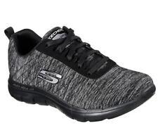 Skechers Flex Appeal 2.0 Ladies Womens Sports Fitness Trainers Black/charcoal UK 7