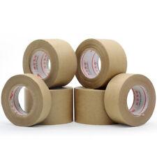 More details for 30m gummed kraft brown paper tape bundled sealed water activated uk
