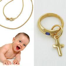 Echt Gold 333 Jungen Baby Taufe Taufring Füße Füßchen Fußabdruck Safir blau