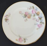 Epiag Czechoslovakia Bread Plate Pink Blue Yellow Roses Gold Trim 6278 6 1/4""