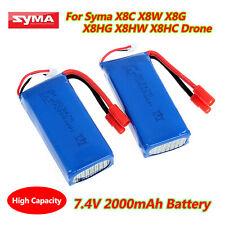 For X8C X8W X8HG X8HW X8HC RC Drone Parts 7.4V 25C 2000mAh Replace Lipo Battery
