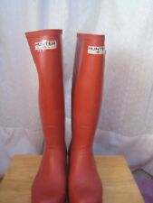 Hunter Original Red Tall Wellington Rain Boots Sizes 3UK 35/36 EUR 4M 5W USA