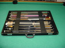 BRAND NEW DELUXE 10x10 DEALER CUE CASE pool billiards 10-3950