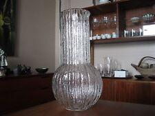Vintage Timo Sarpaneva for Iittala of Finland Large Vertica Ice Glass Vase Rare