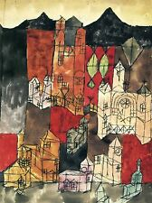 PAUL KLEE CITY OF CHURCHES OLD MASTER ART PAINTING PRINT POSTER 2275OMA