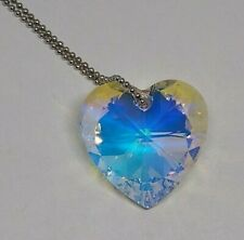 Swarovski Crystal Clear AB 28mm Heart 6228 Suncatcher/ Ornament/ Keychain