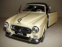1:18 PEUGEOT 403 Cabrio Closed 1957 WELLY Modellauto Creme Beige Columbo Model