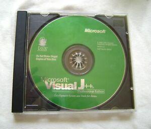 Microsoft Visual J++ Software Development CD with CD-Key