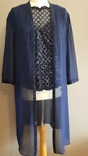 Navy Veni Infantino Mother Of The Bride/groom Outfit Size 12