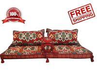 4 pcs Turkish Ottoman Kilim Corner Set Sofa Cushion pillows Lounge Couch red