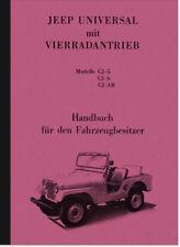 Willys Kaiser JEEP Universal cj-5 cj-6 cj-3b manuale istruzioni CJ 5 6